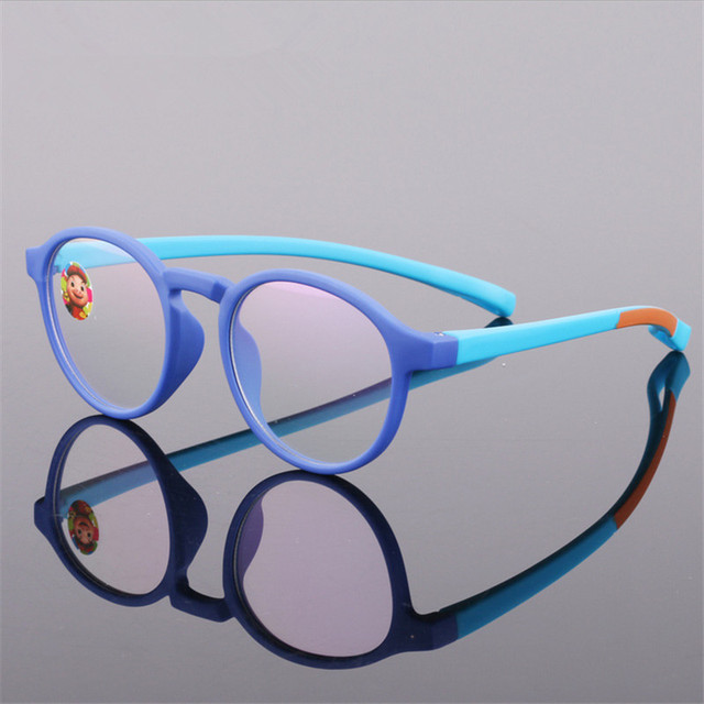 ef80ceaaf4 Glasses Boy Girl Eyeglasses Lightweight Flexible Eyewear Frame Children  Prescription Glasses frame Silicone nose care 666
