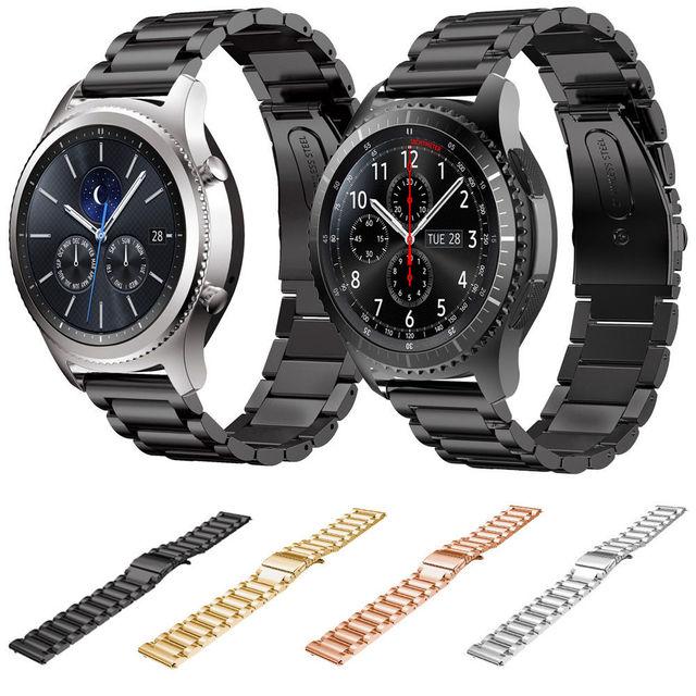 a41446b86ac 22mm pulseira de aço inoxidável para samsung gear s3 substituição banda  pulseiras para a engrenagem s3