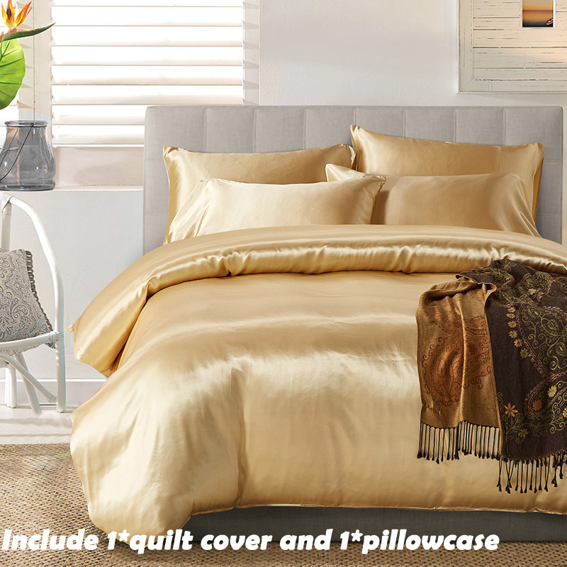 EHOMEBUY 2018 New Bedding Sets Light Tan 1 Quilt Cover With 1 Pillowcase Tasty Luxury US Size Comfortable Soft For Home