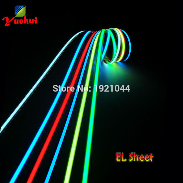 8 colors Choice 1.4X100CM Sound activated EL Strip EL wire EL Tape for holiday,dispaly,car,house,Party decoration by DC3V driver