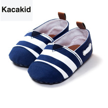 0-18 Months Newborn Baby Shoes Cotton Striped Kids Toddler Crib Soft Soled First Walkers