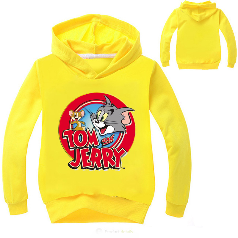 baby girl clothes Tom And Jerry tops Hoodie for kids boys Sweatshirt For Girls Long Sleeve Tees clothes toddler boys clothing
