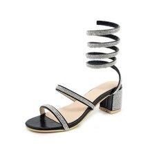2019 summer women's sandals fashion design shiny decorative open toe shoes 6 CM high heel black silver women's sandals size 33-4 корпус cm centurion 6 black silver 600w