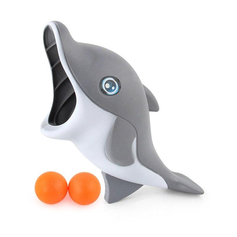 Забавный Спорт на открытом воздухе мультфильм отжимание прикладом мяч животное акула launch Ball игрушка ребенок держать launch Ball Toys - Цвет: Светло-серый