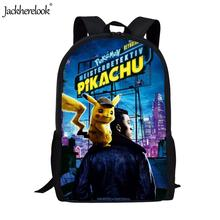 Jackherelook 2019 Hot Movie Pokemon Detective Pikachu Print Schoolbags Boys Girls Middle School Students Backpacks Kids Satchel