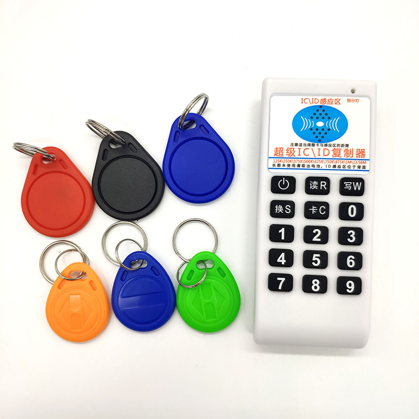 Handheld 125Khz 13.56MHZ RFID Card Tag Copier Duplicator Cloner Reader Writer Sales Package Or 20pcs 125KHz T5577 Keys Or 20pcs