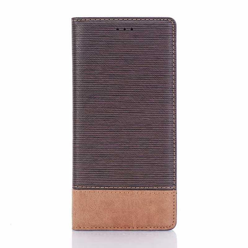 لسامسونج غالاكسي S6 S7 حافة S8 S9 زائد ملاحظة 8 ملاحظة 9 A3 A5 A7 (2017) بو محفظة طي جلدية حالة نمط الصليب حامل بطاقة