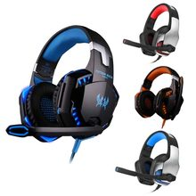 YEINDBOO Wired Headphone E-sports Earphone With Mic PC Gaming Headphones Led Stereo Bass With Noise Reduction Headset ttlife ep1205 stereo bass gaming headset noise cancelling hifi earphone volume control wired headphones with mic for pc android