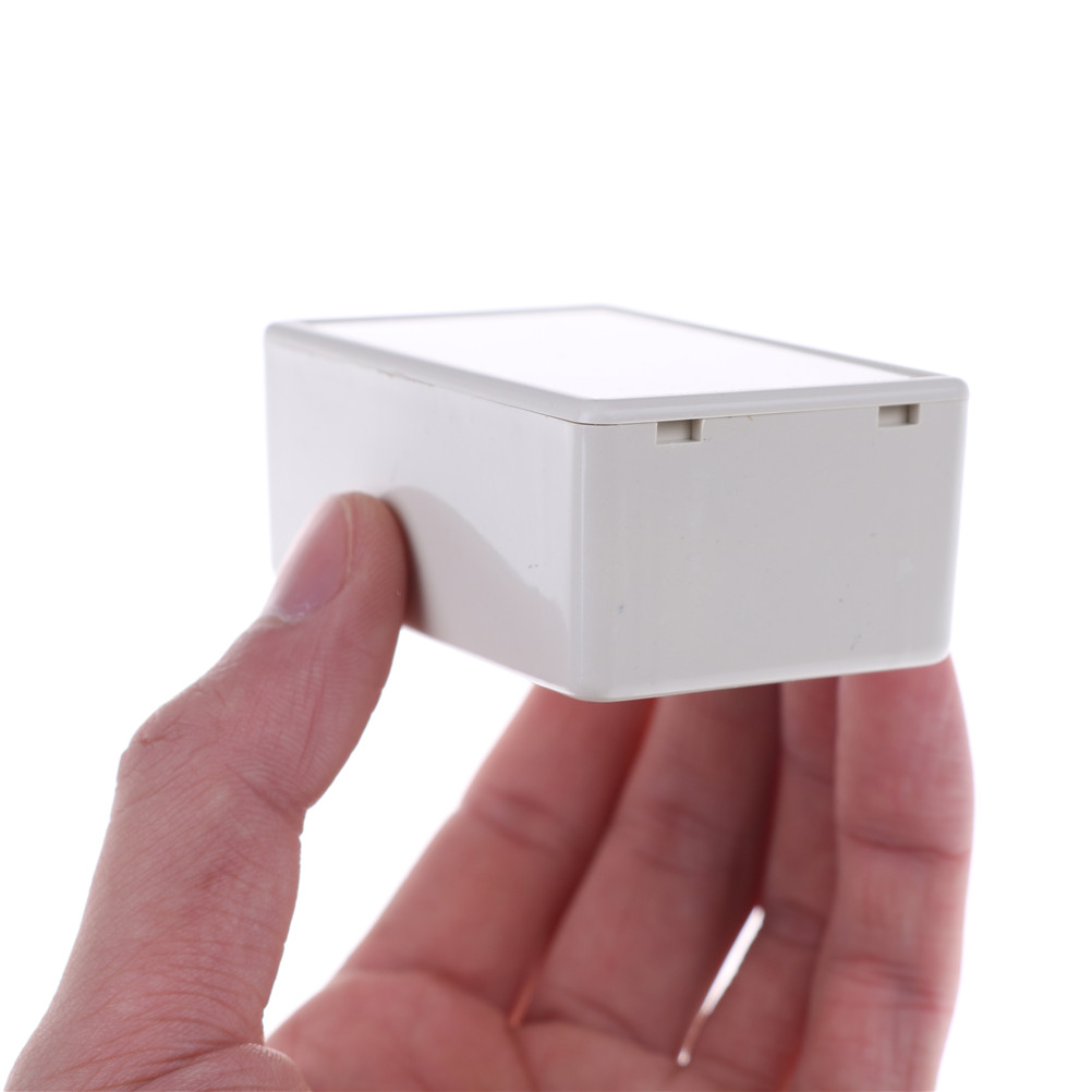 2 Pieces White Plastic Waterproof Cover Project Electronic Instrument Case Enclosure Box 70 X 45 X 30mm in Cable End Caps from Home Improvement
