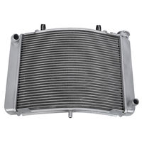 Motorcycle Aluminum Replacement Cooling Aluminum Cooler Radiator For Honda NSR 250 1991 1998 1993 Silver