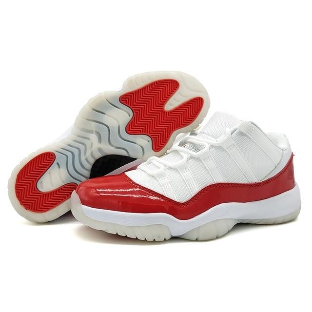 42b2f1380c9 New Jordan Retro 11 XI Men Basketball Shoes VARSITY RED RE2PECT VELVET  HEIRESS BLACK OUT Cool Grey Sport Sneakers Size 41-47