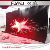 Free shipping P5 customized occasion decoration video curtain 4X4m church decoration