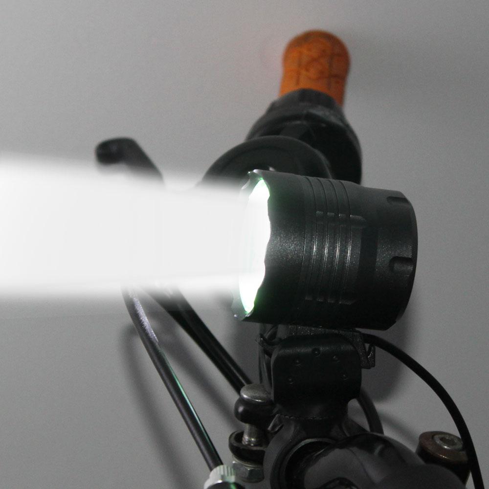 D6 5 *T6 LED Flashlight Cycling Bike Bicycle Light Head Front Lights Flash Light 4 Modes High Power Flashlight Waterproof