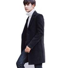 Mens Jackets Coats Men Long Sections Abrigo Hombre Wool & Blends Cashmere Casual Overcoat Windbreaker Fashion