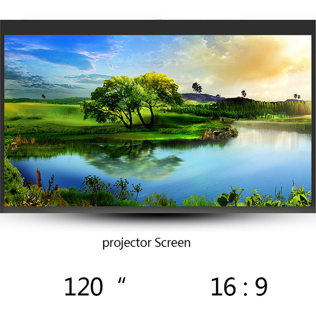 Thinyou 120 Inch 16:9 Wall Mounted Matt White Fast Folding Portable Projection Screen For LCD LED DLP Projector