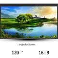 Thinyou 120 Polegada 16:9 Wall Mounted Matt Branco Dobrável Rápido Tela de Projeção Portátil Para LCD LEVOU Projetor DLP