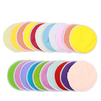 5Pairs Pregnant Women Washable Bamboo Breast Pad Nursing Pads Solid PUL Waterproof Reusable Lady Breastfeeding Pads+1 Bag