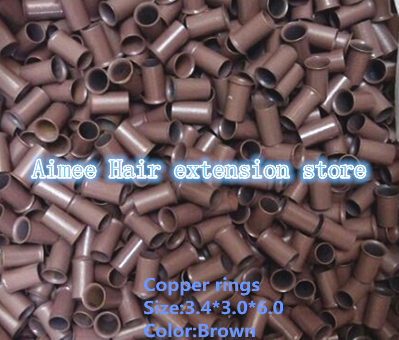 3.4*3.0*6.0mm5 # Brown1000pcs/pack меди вспыхнул кольцо легко блокирует/медная трубка микро Ссылка/ кольцо/шарик для я отзыв волос