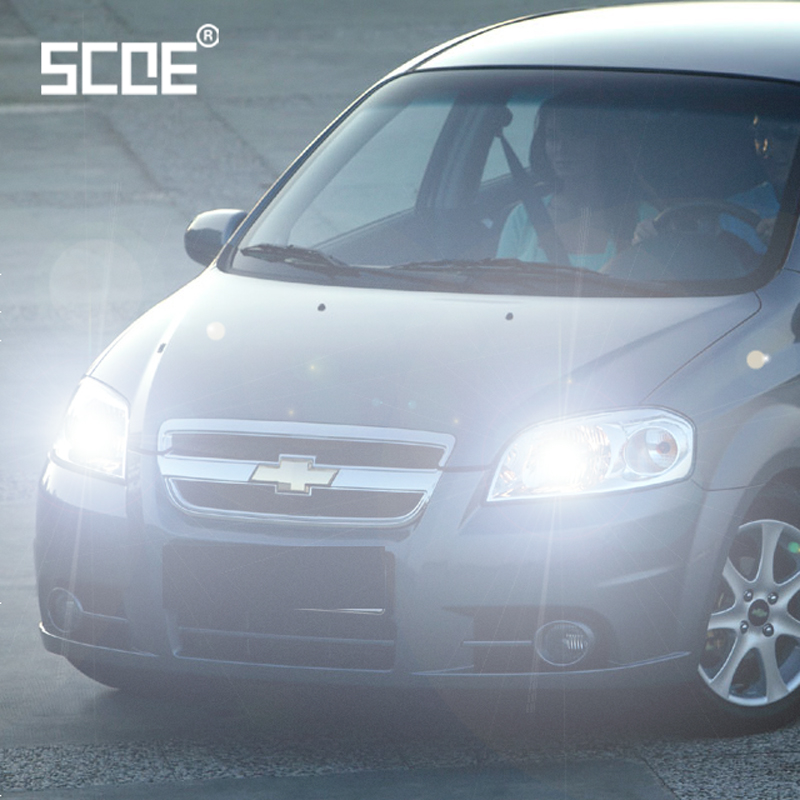 For Chevrolet Aveo Cruze Kalos Lanos Matiz Orlando SCOE 2PCS Auto High Beam Super Halogen Bulb Headlight Car Styling Warm White