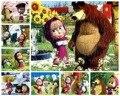 8 PCS/lot Puzzle Masha & The Bear Puzzle Kids Toys 40 Pieces of Puzzle Cute Paper Cartoon Puzzle