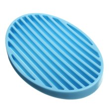 Practical Fashion Silicone Home Bathroom Flexible Soap Dish Plate Soap Holder Soapbox 4color