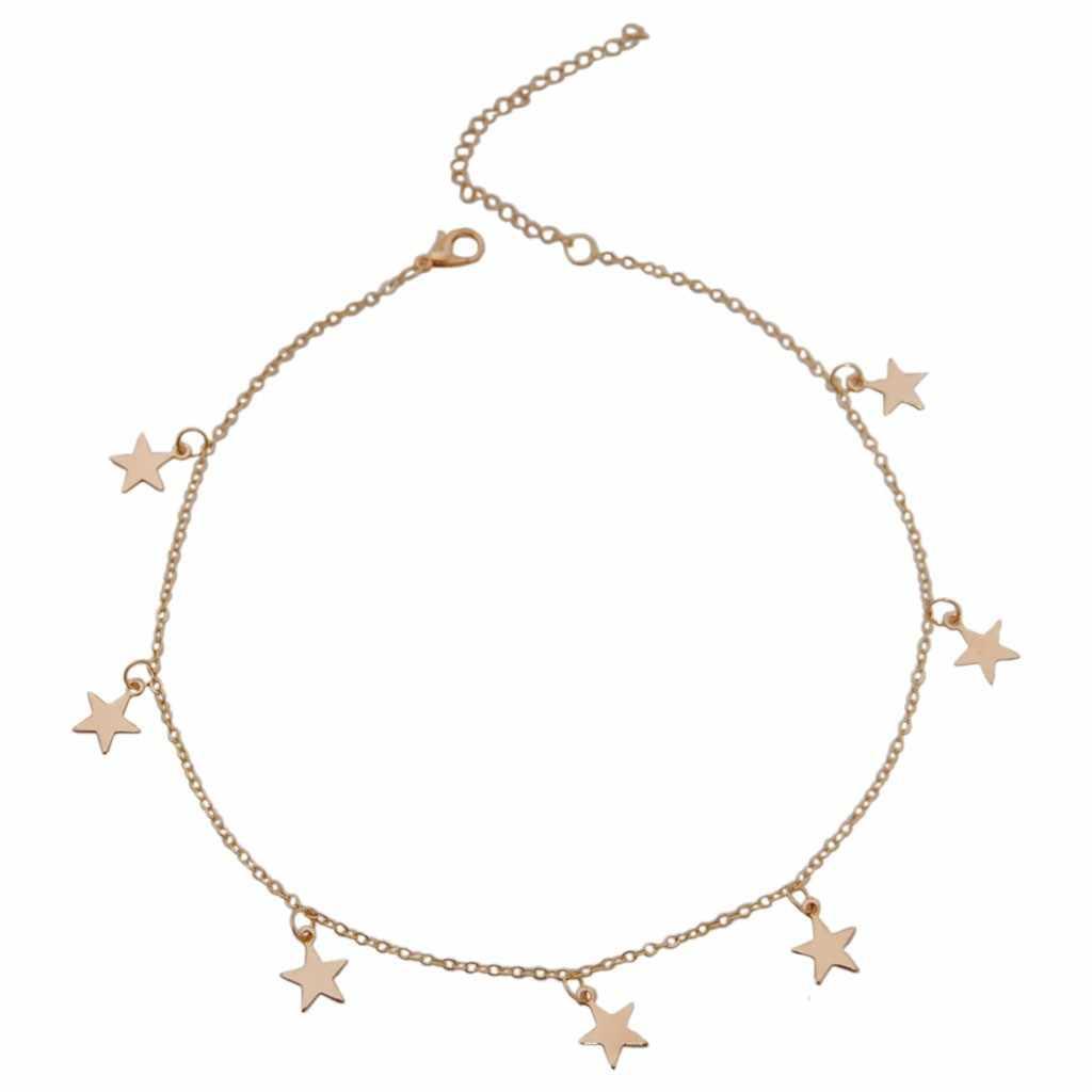 שרשרת נשים אהבת כוכבים סדיר תליון שרשרת הצהרת שרשרת collares