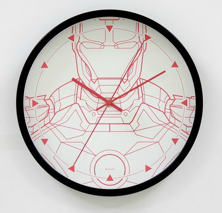 Relojes de pared para el friki iron man blanco negro for Decoracion hogar friki