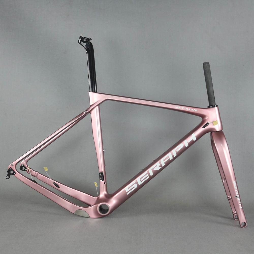 Rose gold Carbon Fiber Gravel Bike Frame GR030   Bicycle GRAVEL frame factory deirect sale  frame  SERAPH gravel Bicycle Frame     - title=