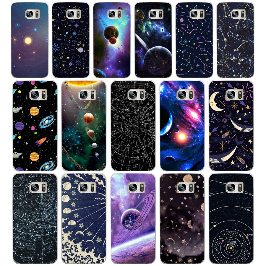 Simple Lavender Purple Flowers Design Hard White Case For Samsung Original Clear Cover Casing Galaxy S8 Plus Ungu 193aa Outer Space Planet Spaceship Transparent S4 S5 Mini S6