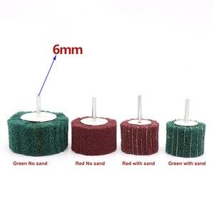 Image 2 - 6mm מברשת הגעלה כרית שוחק גלגל ניילון סיבי טחינת מלטש ראש מרוט ליטוש גלגל סיבי טחינת גלגל עבור Dremel