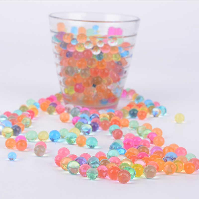 10000 шт/упаковка цветные мягкие Хрустальные шарики для воды, пейнтбола, пули для выращивания воды, шарики для выращивания соли, игрушки для детей