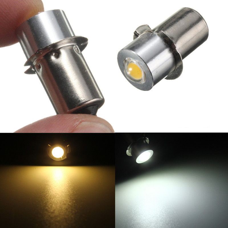 все цены на LED Light Flashlight Bulb P13.5S PR2 1W 90 Lumen Warm Pure White For Interior Bike Torch Spot Lamp Work Lights Bulb DC18V