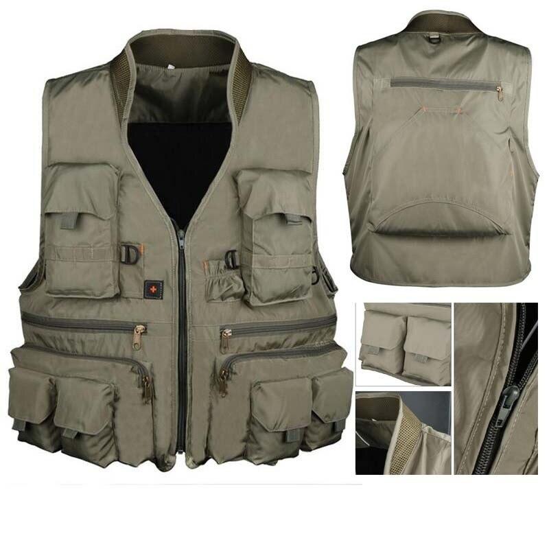 À prova d' água Colete De Pesca Multi-bolso Quick Dry Waitcoat Fotografia Caça Militar Tático Mochila de Acampamento Ao Ar Livre Jaqueta