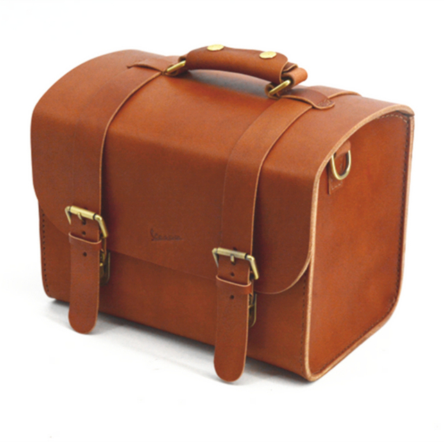 for VESPA Scooter Leather Classic Soft Top Box Luggage Storage Bag