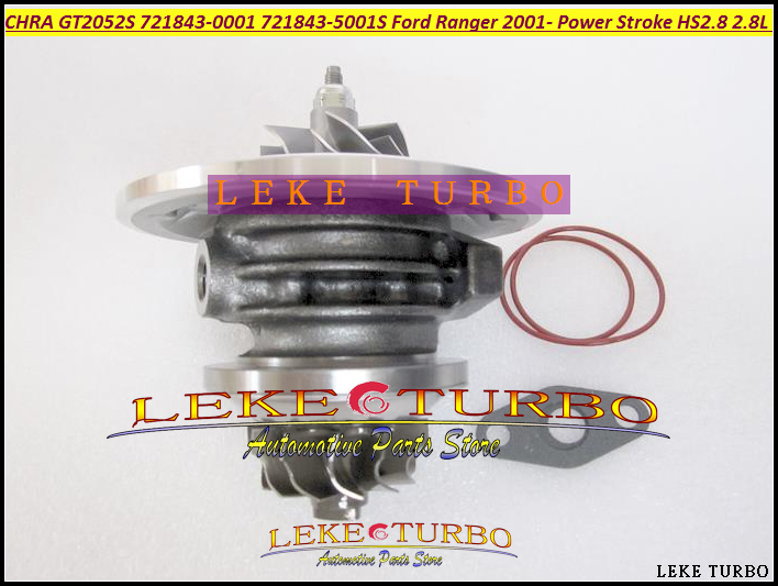 Free Ship Turbo Cartridge CHRA Core GT2052S 721843-0002 721843-5001S Turbocharger For Ford Ranger Power Stroke HS2.8 2.8L 130HP free ship turbo gt25s 754743 5001s 754743 0001 754743 79526 turbocharger for ford ranger 2004 ngd3 0 ngd 3 0l tdi 3 0tdi 162hp
