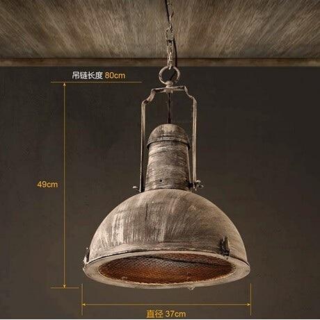Ameriški Country Loft Style Iron obesek luči svetilke mreža - Notranja razsvetljava - Fotografija 6