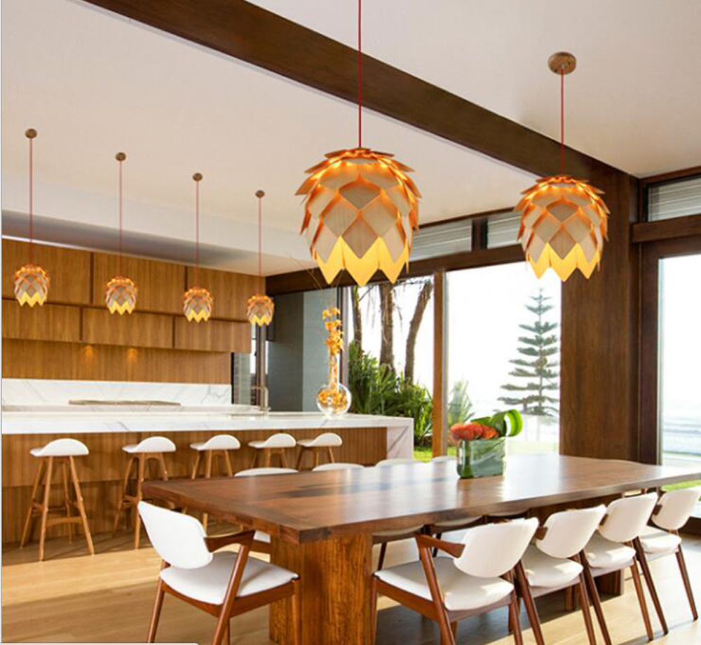 ZYY Loft Wood Creative Simple Pendant light Modern Fashion Lamps For Dining Room Restaurant Bedroom Living Room Shape LED hjt hd wireless ip camera 720p wifi ir night vision cctv outdoor security network p2p h 264 onvif 2 1 camhi surveillance