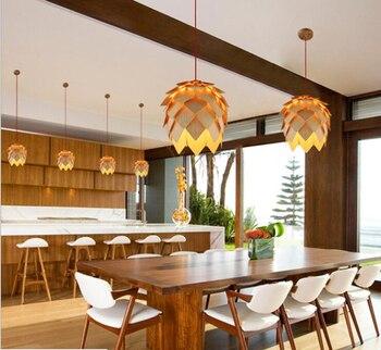 ZYY  Loft Wood Creative Simple Pendant light Modern Fashion Lamps For Dining Room Restaurant Bedroom Living Room Shape LED