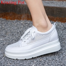 White Sneakers Superstar Vulcanized-Shoes High-Heels Casual Women Lace-Up L57 Vacation