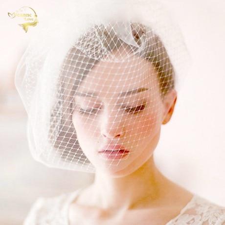 White Black Tulle Cap Bird Cage Wedding Accessories Veil Bridal Birdcage Wedding Veils Short Bridal Accesories Hot Sale BC0001