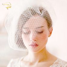 White Black Tulle Cap Bird Cage Wedding Accessories Veil Bri