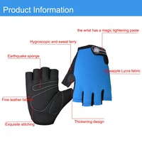 Cycling Gloves Half Finger Anti Slip Gel Pad Breathable Motorcycle MTB Mountain Road Bike Gloves Men Sports Bicycle Gloves M-XL