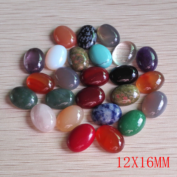 Wholesale Nature Stone Surface Assorted Beads for jewelry making Oval CAB CABOCHON DIY beads 12*16MM 50Pcs/lot Free shipping