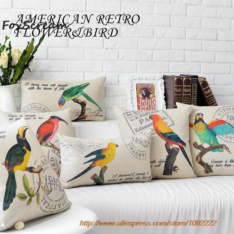 Vintage Dekorative Vogel Kissen Wohnzimmer Gelb Couch Sitz Boden Stuhl Aussensitz Fr Sofa