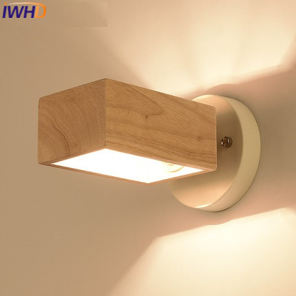 IWHD Nordic Style Modern Wall Lamp Iron Arm Sconce LED Wall Lights For Home Lighting Wood Wandlamp Lighting Stairs Aplik Lamba bronze wall sconce lighting european style brass wall lights bedlamp bedside lamp living room wall lamp led wandlamp modern led