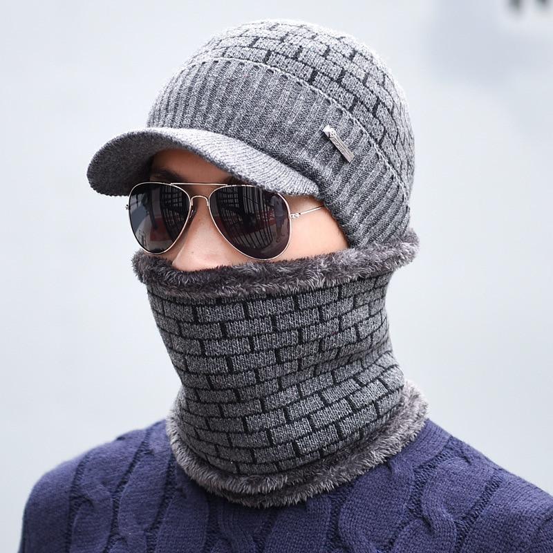 2018 Winter Hats Skullies Beanies Hat Winter Beanies For Men Women Wool Scarf Caps Balaclava Mask Gorras Bonnet Knitted Hat