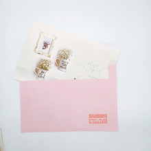 1Pcs/lot Lovely Deeply blessed large Hot Stamping Greeting Card With Envelope Christmas Birthday Wedding Cards