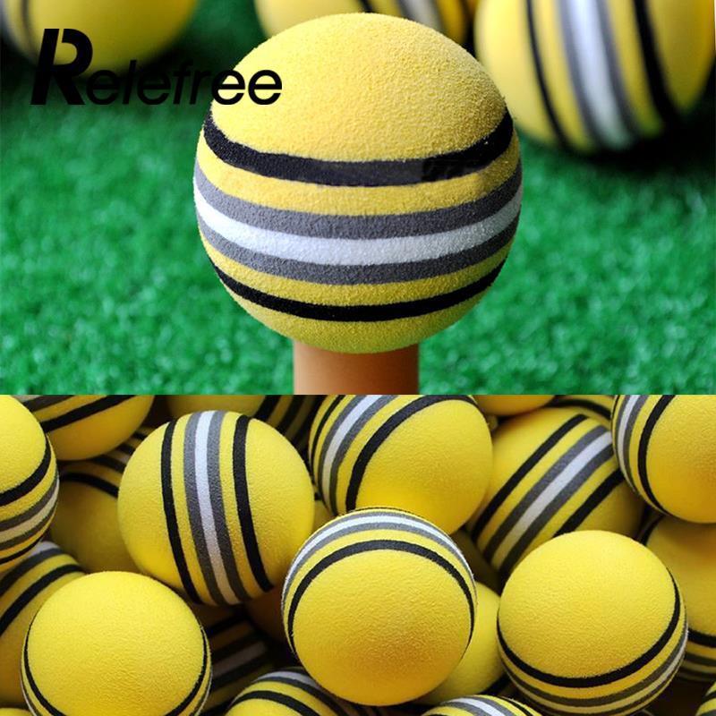 Relefree 50Pcs Colored EVA Foam Golf Balls Pack Indoor Outdoor Sports Golf Training Tools