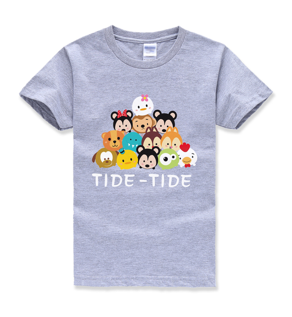 CUTE animal tops funny t shirt summer 2018 new fashion brand street hipster cartoon kids t shirts boys short sleeve clothes mma