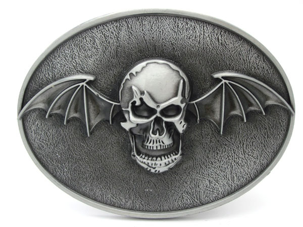 Spona na lebku s lebkou Bat